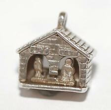 Vintage NUVO Weather House Sterling Silver Charm / Moving (2.9g)
