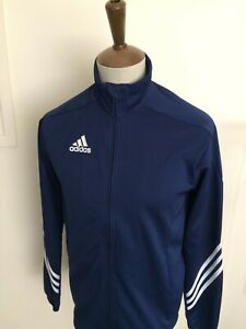ADIDAS CLIMALITE TRACKSUIT TOP SIZE SMALL BLUE