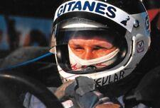 Jean Pierre Jarier SIGNED  F1 Shadow Helmet Portrait 1976