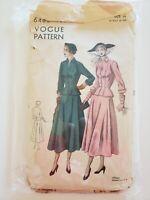 1950's Vintage Sewing Pattern Vogue Skirt Suit Dress size 14 bust 32