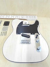 HSTL 19100 Solid Basswood Body Electric Guitar DIY Kit,No-Soldering,S-S Pickups