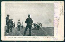 Roma Nettuno Poligono Artiglieria Militari PIEGHINA cartolina KF2427