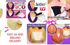 3 Pack Cami secret Clip On Mock Camisole Modesty Parody Panel White Black Beige