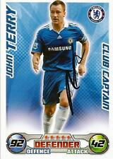 JOHN TERRY SIGNED 'CLUB CAPTAIN' 2008/2009 MATCH ATTAX TRADING CARD+COA