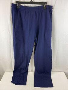 Hanes Men's Open Bottom Lounge Pants, Blue, Large