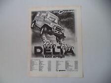 advertising Pubblicità 1981 DELTA MINICRUISER MINI CRUISER