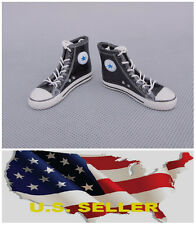 "1/6 Converse black All Star style Man Shoes Sneakers for 12""figure ❶❶US seller❶❶"