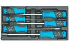 GEDORE! Schlitz-Schraubendreher 4-5,5-6,5-8 mm 6 tlg Schraubenzieher im Modul