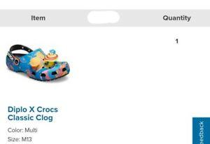 Diplo Crocs Size 13 Confirmed!!