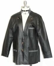"LEATHER Women JACKET Coat BLACK German Winter Hunting Western Coat B46"" L"