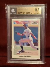 1990 LEAF FRANK THOMAS ROOKIE RC #300 HOF BGS 9.5 GEM MINT (10, 9.5, 9.5, 9)