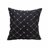 45 x 45 cm Diamond Home Bed Sofa Decor Cushion Cover Pillow Case Black Colour