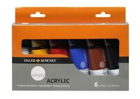 Daler Rowney - Simply Acrylic Set - 75ml Tubes - 6 Count