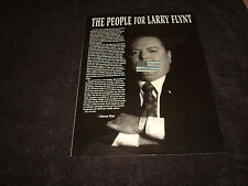 THE PEOPLE FOR LARRY FLYNT ad US flag over Flynt's mouth & THE PERFECT STORM