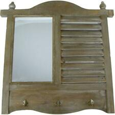 Wall Mirror, Mirror, Old Fensterlade with Mirror And Hook IN Retrostil