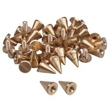 20pcs Solid Brass Rivets Cone Spikes Screwback Studs For DIY Craft Punk Style