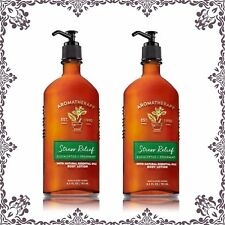 (2) Bath & Body Works Aromatherapy Stress Relief EUCALYPTUS & SPEARMINT Lotion
