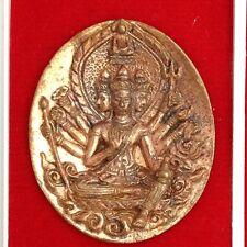 PROM NIMITR CAST COIN PHRA NUA PHROM LP MOON  THAI AMULET BUDDHA