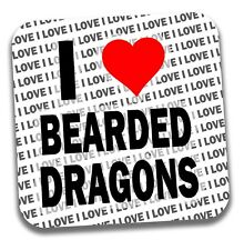 Me encanta barbudo Dragones Bebidas Posavasos-Regalo-Cumpleaños-Stocking Filler