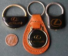 1980s Era Brooklyn-Manhattan,New York Lexus 3-THREE metal-leather keychain set!
