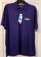 LSU Men's Polo Shirt NWT Licensed NCAA Size L LARGE Louisiana