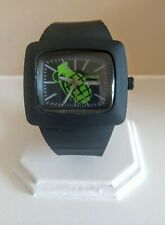 Big Mens Grenade Snowboard, Skateboard, Bike Watch.  Hard rubber. Nice!
