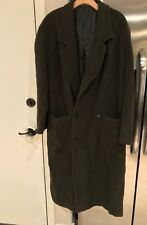 VINTAGE Emporio Armani Made In Italy Wool Trench Coat Green Mens Size 48R