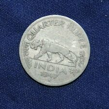 British India Quarter Rupee 1947 coin