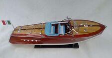 "Cedar Wood Riva Tritone 24"" Boat Quality Wood Model Ship Beautiful Xmas Gift"
