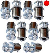 10x Ampoules 24V P21W R10W R5W 8LED SMD rouge pour camion semi-remorque portail