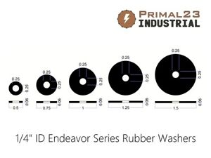 "1/4"" Inside Diameter Rubber Washers - Oil Resistant Neoprene Rubber Washers"
