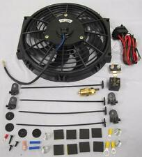 "10"" Heavy Duty Electric Radiator Cooling Fan w/ Thermostat Relay & Mounting Kit"
