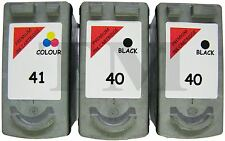 2 x PG-40 & 1 x CL-41 Black & Colour 3 Pack Ink fits Canon Pixma iP1900 Printers