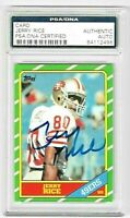 1986 Jerry Rice TOPPS #161 RC RP W/ PSA DNA AUTHENTIC AUTO - 49ers HOF MINT CARD