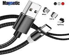 3in1 Ladekabel Samsung Galaxy Magnet Typ-C Micro USB LED 1m | 2m Huawei Xiaomi