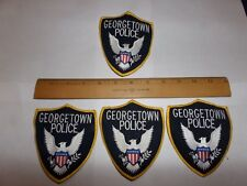 4 LOT GEORGETOWN POLICE PATCHES