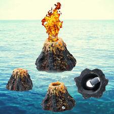 Volcano Shape & Air Bubble Stone Oxygen Pump Aquarium Tank Fish Ornament Decor