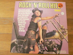 LP RECORD VINYL COVER TRIUMPH MOTORCYCLE ? ROCK 'N ROLL HITS PIN-UP GIRL