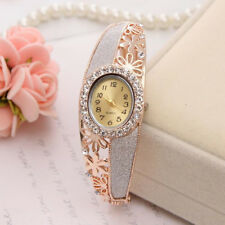 Women's Charm Gold Plated Quartz Watch Dress Jewelry Bangle Luxury Wristwatches