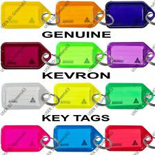 More details for kevron plastic key click tags labels assorted colours fobs card id heavy duty