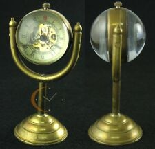 Archaize Bronze Copper Stand Pocket Watch Antique Mechanical Glass Ball Case