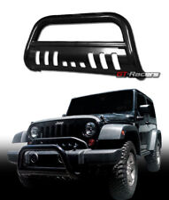 FOR 2010-2018 JEEP WRANGLER BLACK BULL BAR BRUSH PUSH BUMPER GRILL GRILLE GUARD