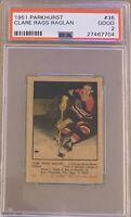 1951 1952 PARKHURST Clare Rags Raglan PSA 2 Good #36 GD Blackhawks Chicago