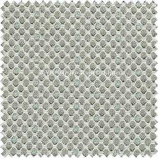 10 Metri di Decorazione Geometrica Modello Piccolo Verde Bianco Tappezzeria Tessuti