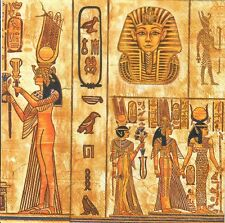 4single paper decoupage napkins. Egypt, mummy,  Cleopatra, pyramid design- 259