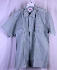 Clifton Uniform Company Shirt Army Military Green Button Up SS Size 18.5