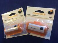 Fiskars Continuous Stamp Wheel Ink Craft Cartridge Black Refill x 2