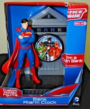 Justice League Superman DC Comics Bank Alarm Clock Coin Bank