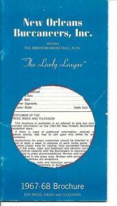 1967-68 New Orleans Buccaneers Media Guide ABA 1st Season RARE!!