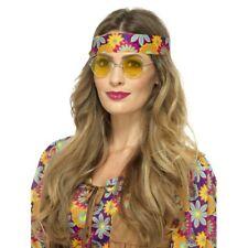 GIALLO Hippie SPECIALI 1960s Accessorio Vestito Hippy OCCHIALI